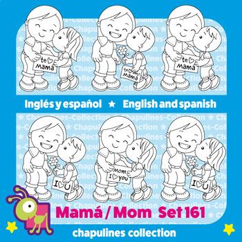 Mom Clipart Black and white, Mother's day, Mamá, Día de las Madres Set 161