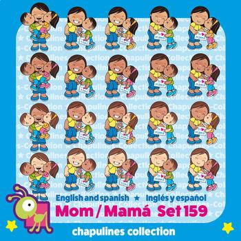 Mom Clipart, Mother's day, Mamá, Día de las Madres, Set 159