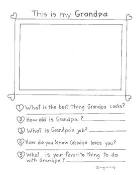Mom, Dad, Grandma, Grandpa, Nana, Papa memory pages