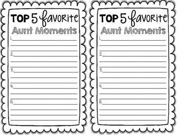 Mom Moments- A Mother's Day Writing Activity