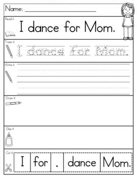 Mom Sentence Building LEVEL A