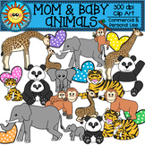 Mom and Baby Animals Clip Art