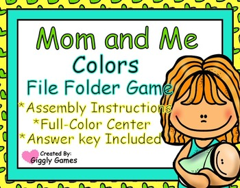 Mom and Me Colors File Folder Game