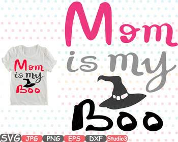 Mom is my Boo clipart Silhouette first halloween boo fall birthday spider 48sv