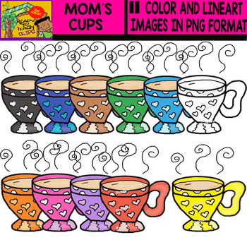 Mom´s Cups - Clipart Set - 11 Items
