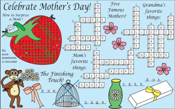 Mom's Favorite Things (Mother's Day) Two-Page Activity Set