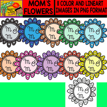 Mom´s Flowers - Clipart Set - 11 Items