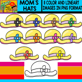 Mom´s Hats - Clipart Set - 11 Items