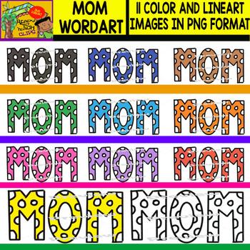 Mom´s Wordart - Clipart Set - 11 Items
