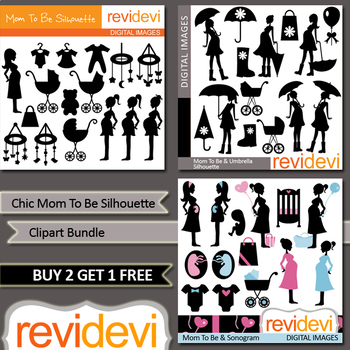 Mom to be clipart bundle (pregnant woman clip art)