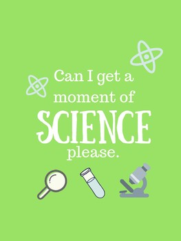 Moment of Science Poster