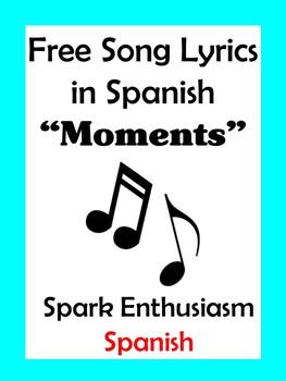 Moments Song Lyrics in Spanish
