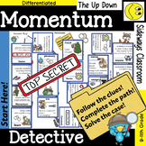 Momentum Detective- 3 Domino Path Matching Activities - Forest Theme