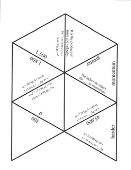 Momentum Game Puzzle with Worksheet
