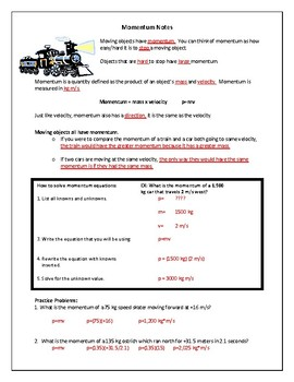 Momentum Notes, Practice and Lab