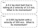 Editable Momentum Task Card Practice