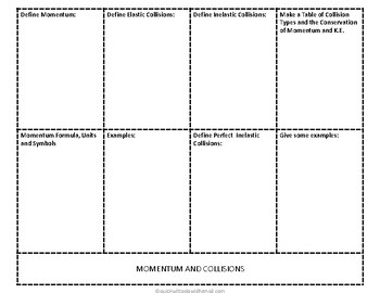 Momentum and Collisions Foldable Activity