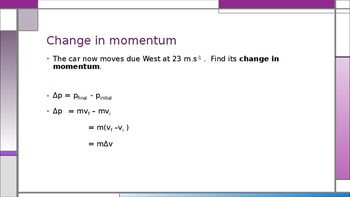 Momentum and Newton's second law in terms of momentum