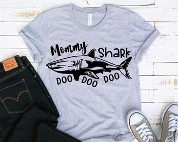 Mommy Shark SVG Doo Doo Doo Mother's Day Mom Sea World Doo Baby Family 1223s