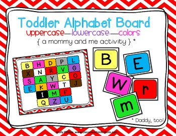 Mommy and Me Activity {Toddler Alphabet Board}