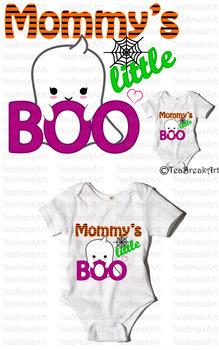 Mommy's little Boo Text Art Monogram Digital Design Cutting Files ClipArt 706C