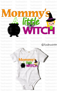 Mommy's little Witch Text Art Monogram Digital ClipArt Cutting Files Design 707C