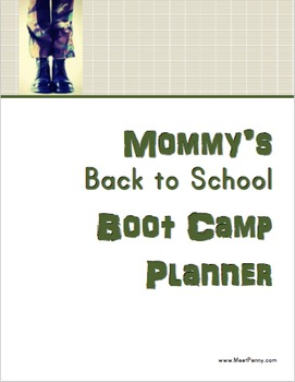 Mommy's Back to School Bootcamp Planner
