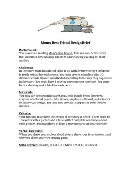 Mom's Best Friend STEM Design Brief for Children's Engineering