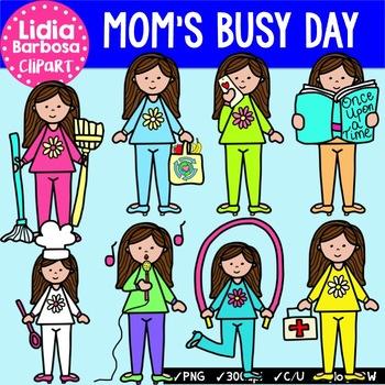 Mom's Busy Day {Clip Art for Teachers}