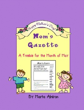 Mom's Gazette - Freebie for the Month of May