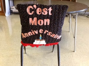 Mon Anniversaire My Birthday Celebration Chair Cover