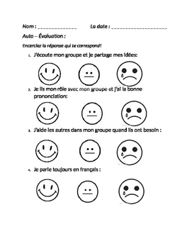 Mon Auto-Evaluation