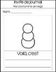 Mon Bonhomme de Neige - Word Wall Vocabulary Cards
