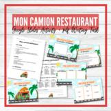 Mon Camion Restaurant - My Food Truck - Google Slides™ Act