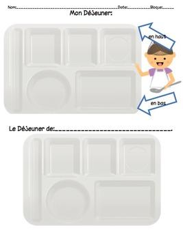 Mon Dejeuner Communicative Activity for Novice Mid French