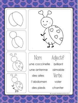 Février Journal Prompts and Directed Drawings for Saint Valentin FRENCH