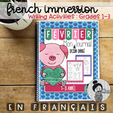 French Immersion Writing Prompts (Février) Grades 1-3