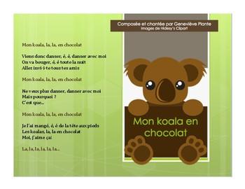 French song - Chanson: Mon Koala en chocolat