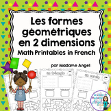 Les formes géométriques - 2D Shape Printables in French