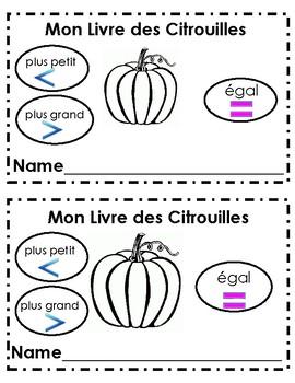 French Immersion- Mon Livre des Citrouilles