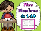 Mes Nombres de 1-20:  French numbers 1-20