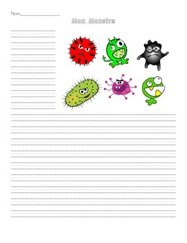 Mon Monstre Writing Prompt