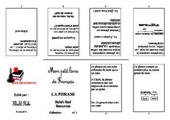 Mon Petit Livre de Francais- La Phrase