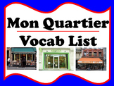 Mon Quartier Vocabulary (French places in town)