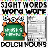 Mon-STAR Sight Words Supreme NO PREP Printables ~ DOLCH NOUNS