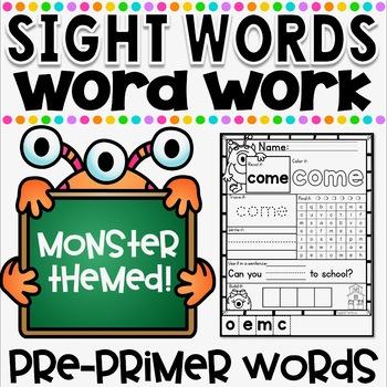 Mon-STAR Sight Words Supreme NO PREP Printables ~ PRE-PRIMER