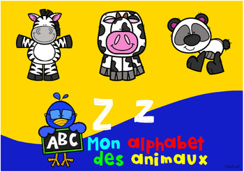 Mon alphabet des animaux • Digital Task Cards in FRENCH