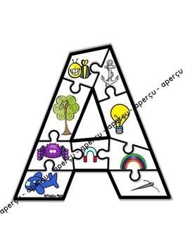 Mon alphabet en casse-tête