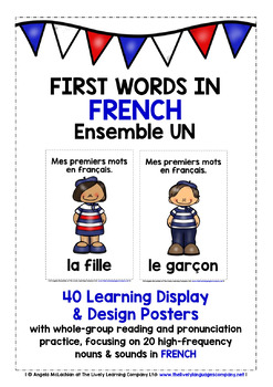 ELEMENTARY FRENCH FIRST WORDS (1) - 40 POSTERS & PRACTICE