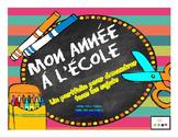 Mon année à l'école- My Year At School Portfolio (French & English)-revised